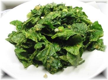 Raw Spinach Salad 1