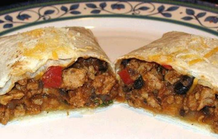 Turkey and Bean Burritos 2