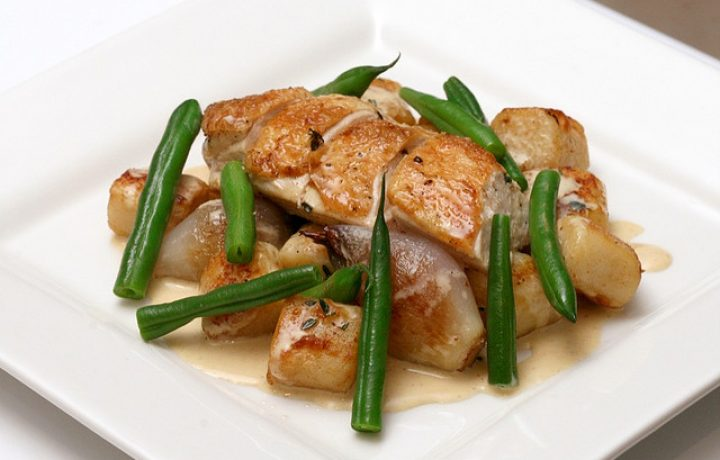Island Roasted Chicken with Thyme Mustard Sauce