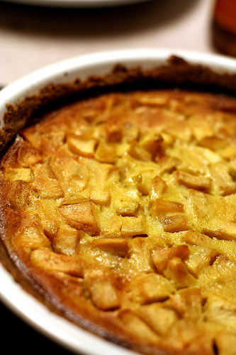 Savory Baked Apple Custard