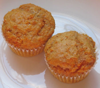 Tastefully simple spiced carrot muffins
