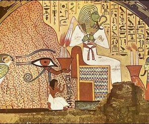 Dead Man Kneels beside Osiris-Tomb of Pashed