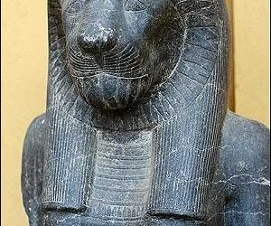Egyptian statue-Vatican Museum-Rome-Italy