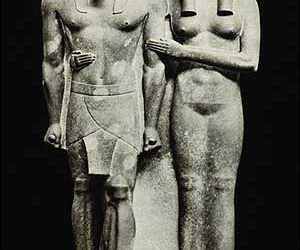 King Mycerinus and Wife-Egyptian sculpture-Boston Museum