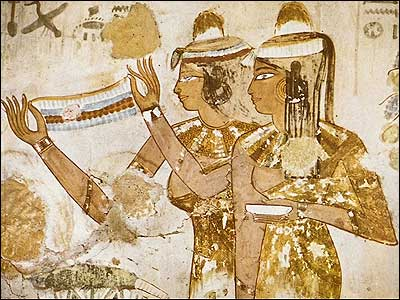 Offering of a Necklace and a Cup-Tomb of Jeserkareseneb