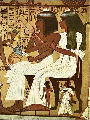 Senejem and his Wife Receiving a Libation from their Son