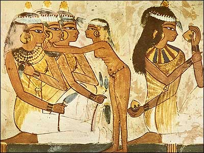 Servant Girl Adjusting an Earring-Tomb of Nakht