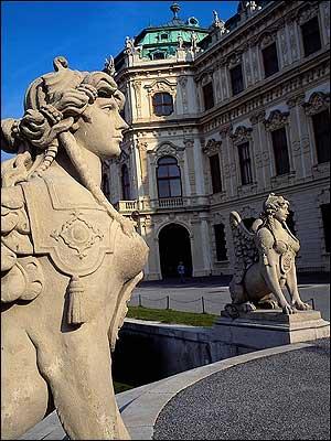 Sphinx at Belvedere Palace- Vienna-Austria