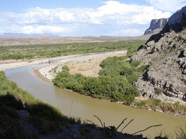 The Rio Grande from the Santa Elena Canyon (March, 1999)