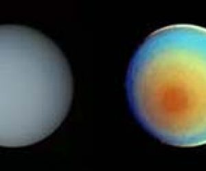 This image it is about Spring comes to the planet Uranus