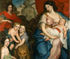 Breast-fed child - Queen_Marie_Casimire_with_Children