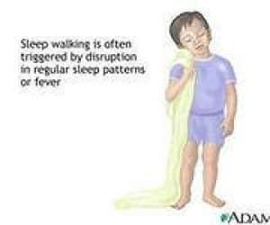 sleepwalking or somnambulism