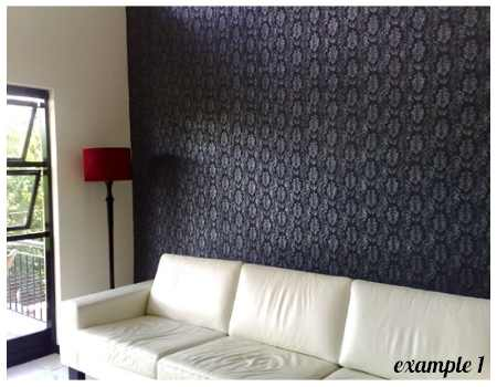 Wall covering with liquid wallpaper