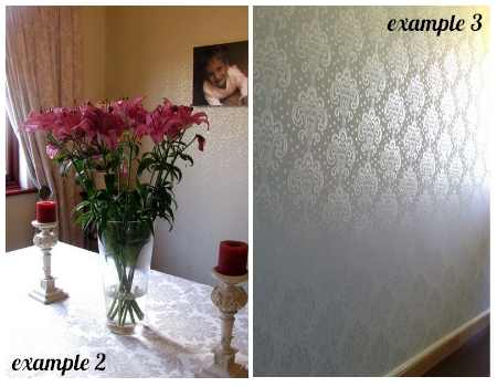 Wall covering with liquid wallpaper in London