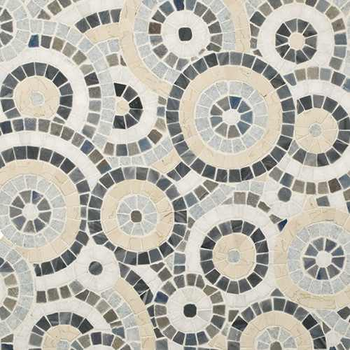 wall covering trends with polished mosaic tiles
