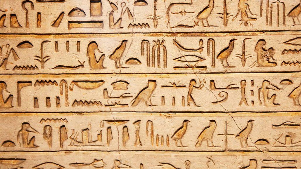 Egyptian hieroglyphics - the origins of writing