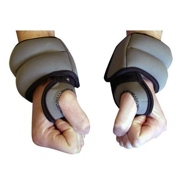 Walking with hand weights