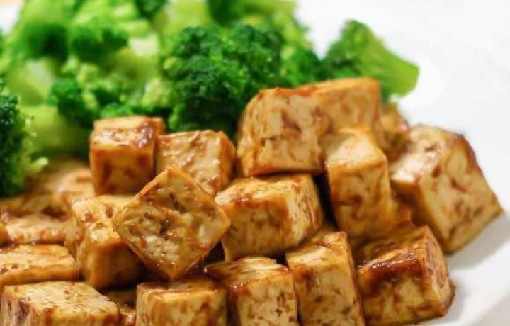 no oil vegan baked tofu