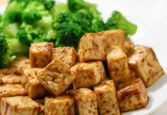 no oil vegan baked tofu