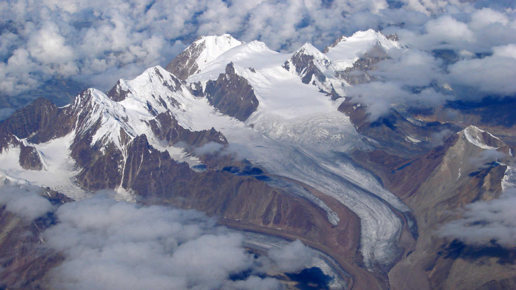 Glaciers in the mountains of india nepal and tibet