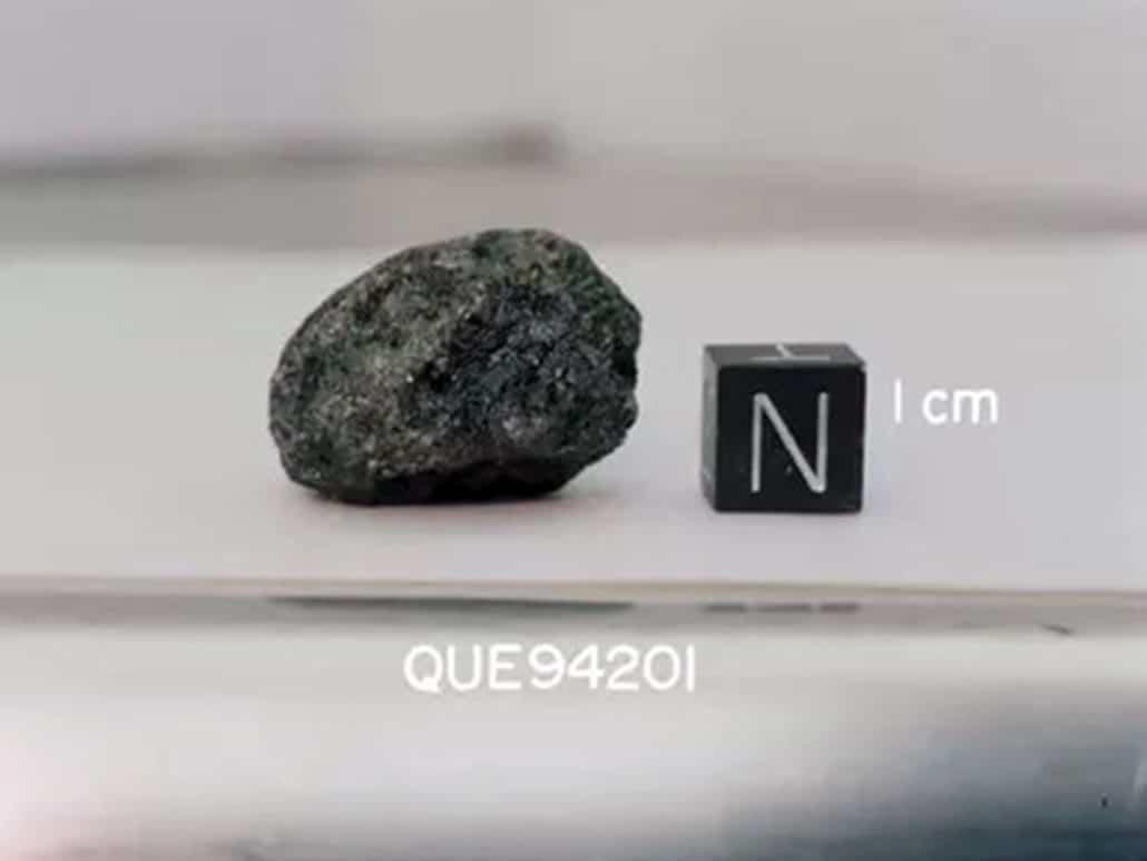 Martian meteorite Que94201