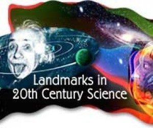 This image it is about Landmarks in 20th Century Science