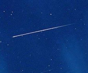 This image it is about Meteor Trails