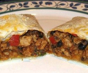 This image it is about Turkey and Bean Burritos