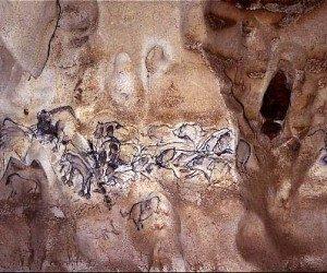This image it is about The Chauvet-Pont-d'Arc Cave