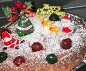 This image it is about Fruitcake, eggnog and holiday payback
